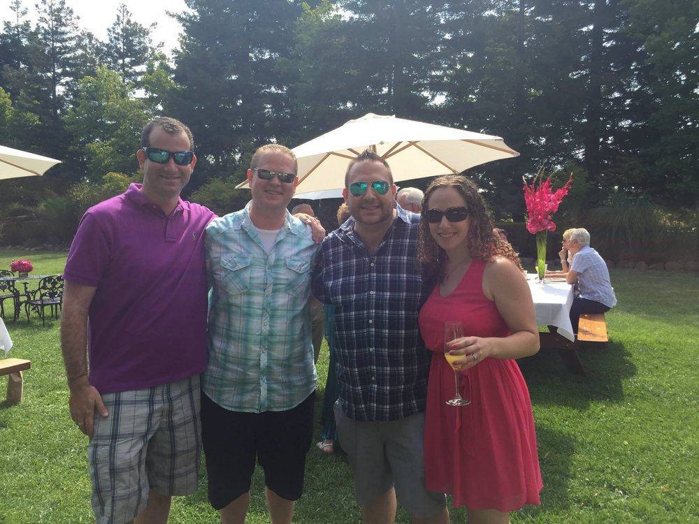 With our friends Hillary and David at their wedding weekend brunch