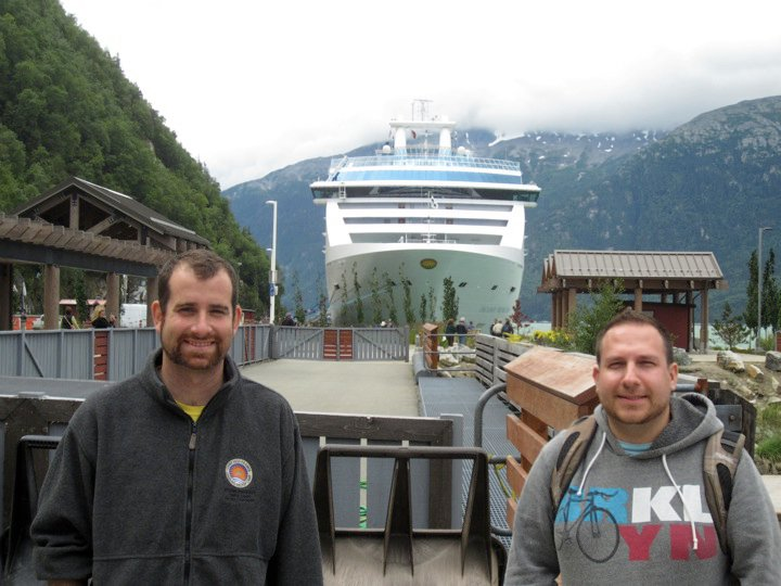 On our Alaskan cruise