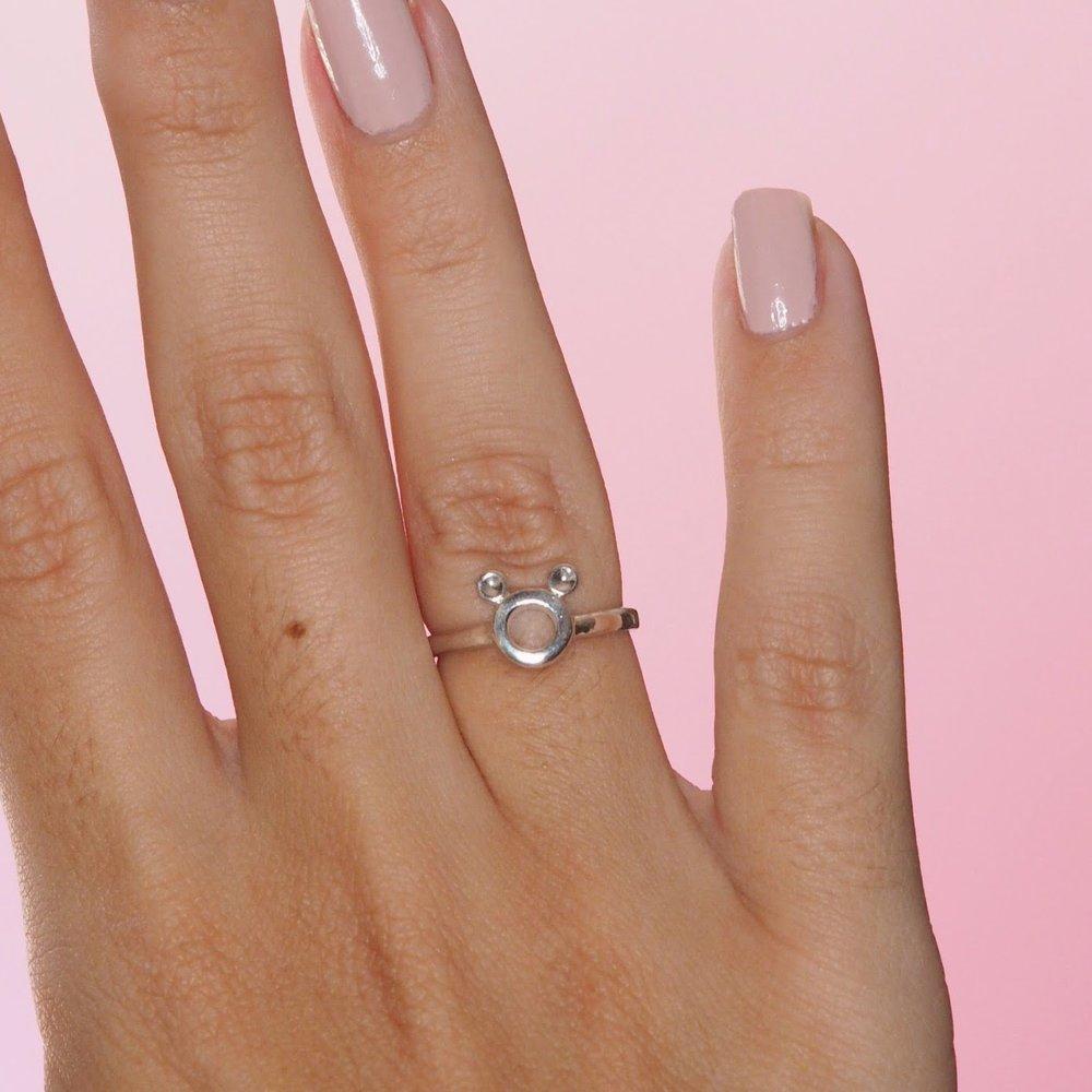 Sterling Silver Mickey Inspired Silhouette Ring — Rita Lane Vintage