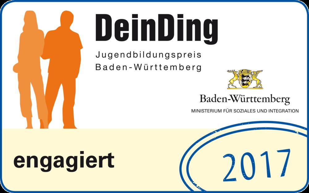 DeinDing Jugendbildungspreis Baden-Württemberg