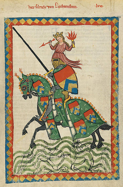 ' von Lichtenstein ' in de Codex Manesse
