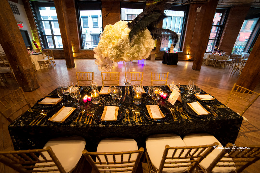 Harlem Renaissance Brooklyn Loft Wedding Flowers (3).jpg