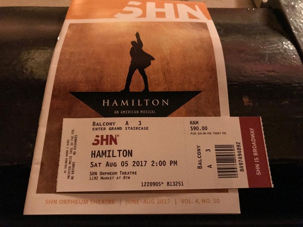 Tickets to Hamilton