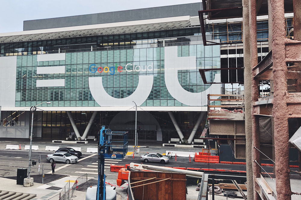 Google preparing their annual week-long takeover of Moscone Center.