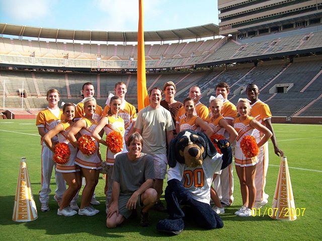 Blast from the past...Neyland Stadium is one of our favorite venues...amazing place.  #isitfootballseasonyet #universityoftennessee #neylandstadium #ut #knoxville #cheerleaders #smokey #sec