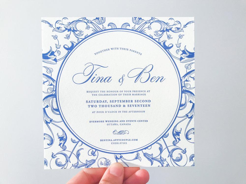 Tina & Ben's   Dutch style wedding stationery