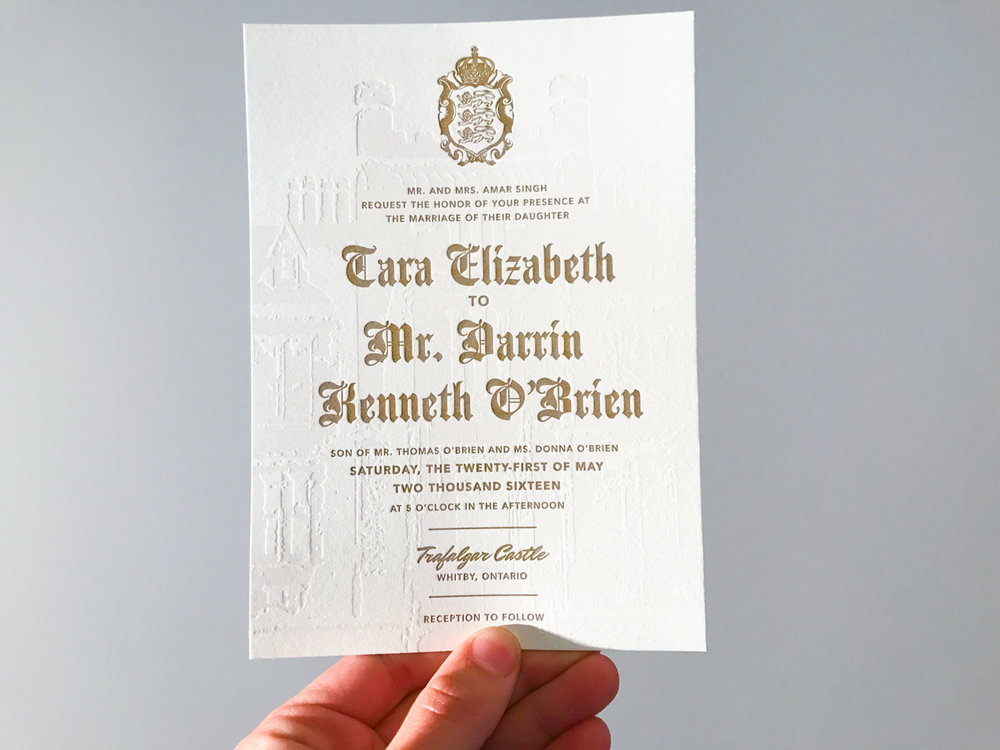 Tara & Darrin's   luxurious celebrity wedding stationery
