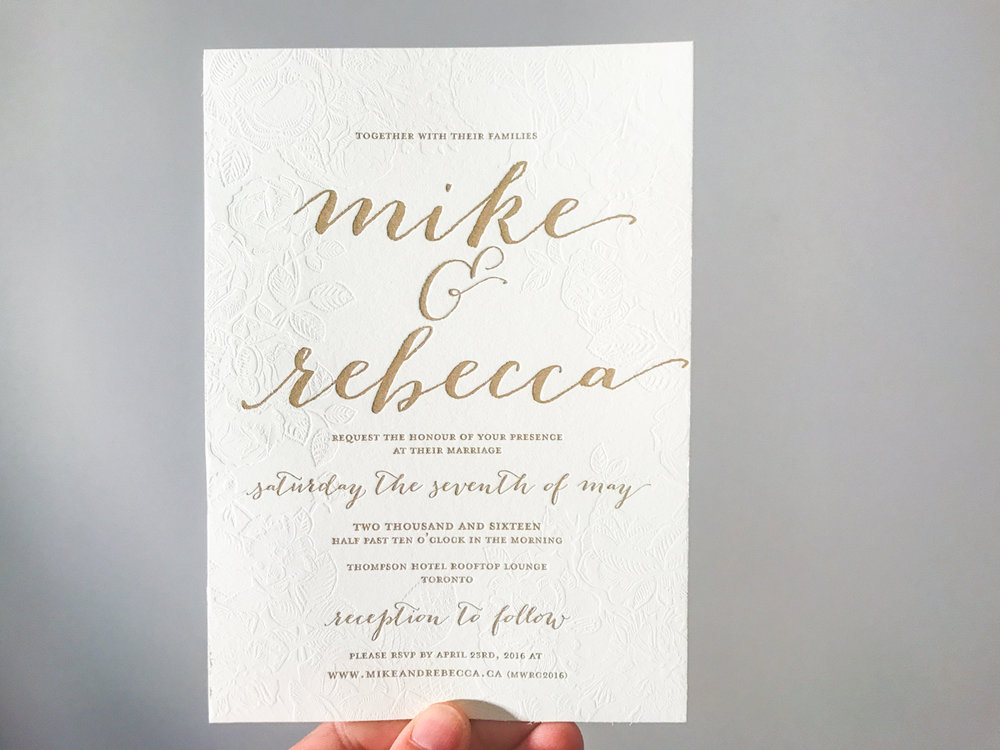 Rebecca & Mike's   Romantic floral wedding stationery