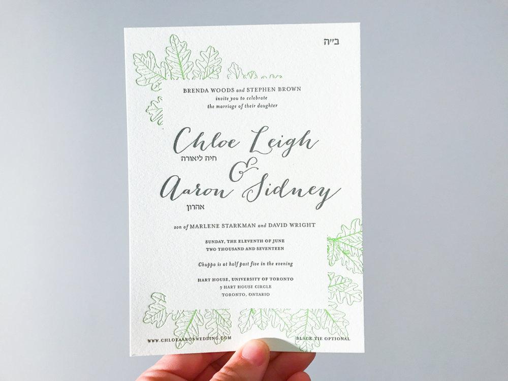 Chloe & Aaron's   Classical Toronto Wedding Invitations