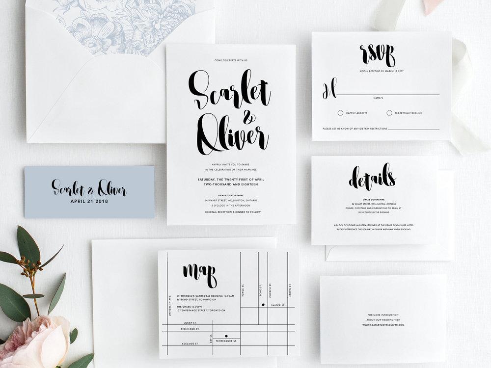 custom printable wedding invitation design