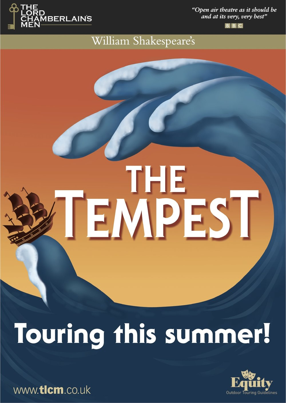 The Tempest performed by the Lord Chamberlain's Men - Back by popular demand after last year's stunningly successful evening The Lord Chamberlain's men return to Dummer Down Farm hosted by MOTGS.
