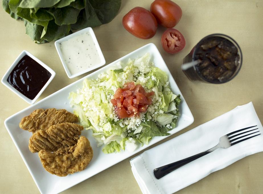 LUNCH - Chicken Strips, Side Salad and Drink.jpg