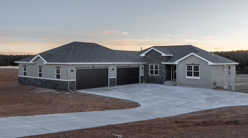 The Tiffany - 3,781 Square Feet5 bedroom, 3.5 bathroom ranch plan with a formal dining room or optional study. This plan has an open design with a 5-piece master suite including two closets. Includes a 4 car garage and covered front patio.