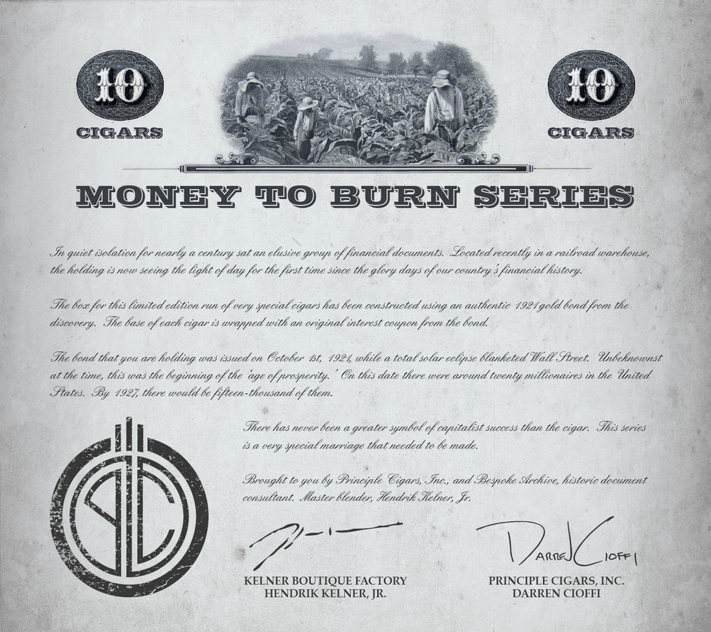 Inside each 'Money to Burn' box.