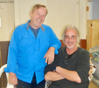 Bob (right) and Internationally recognized dog behavior coach Brian Kilcommons (left) at Dogs at Play.