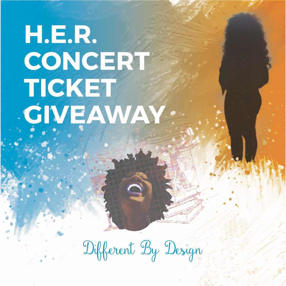 H.E.R. is making H.E.R.way down to sunny South Florida and I'm giving you the chance to see her LIVE at Culture Room on Saturday, December 2nd. Follow the rules below for your chance to win:  1. Follow me on Instagram @differentbydesign27  2. Like me on Facebook @differentbydesign27  3. Post this photo and tag two people with the following hashtags #DifferentByDesign & #DBD27giveaway