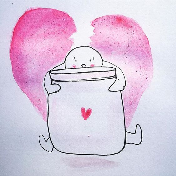 """When the container of your heart still doesn't feel large enough to hold the unbearable weight of loss."""