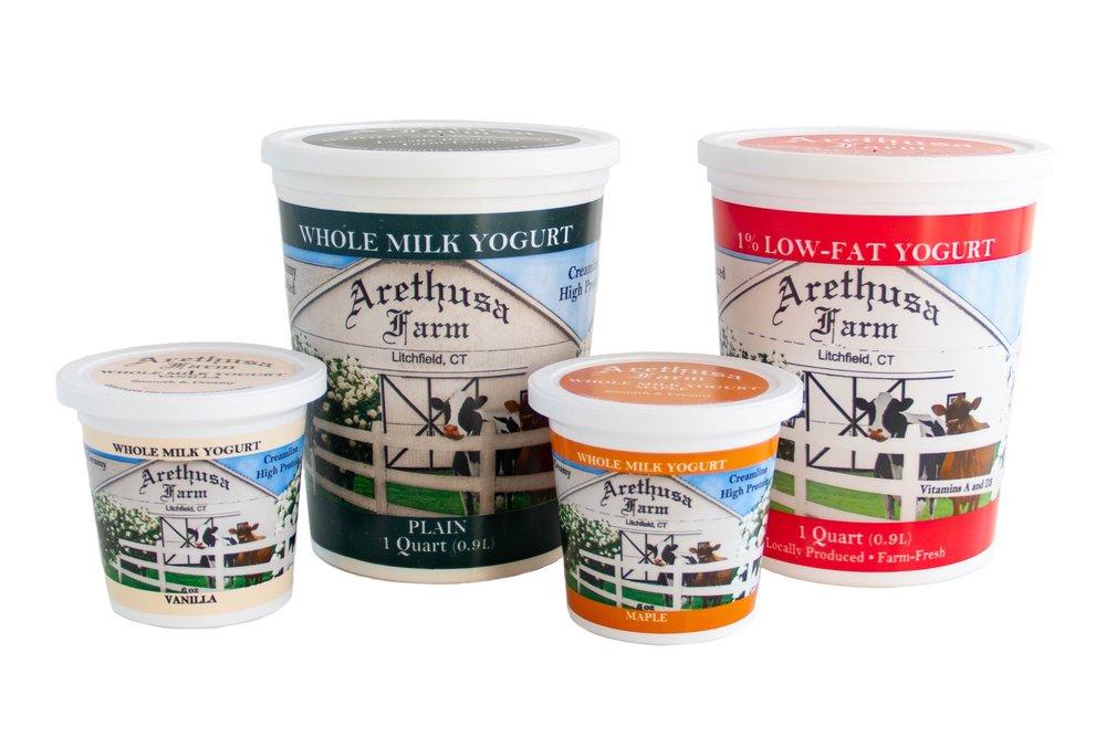 Yogurt Arethusa Farm Dairy Bantam Connecticut Whole Milk Yogurt