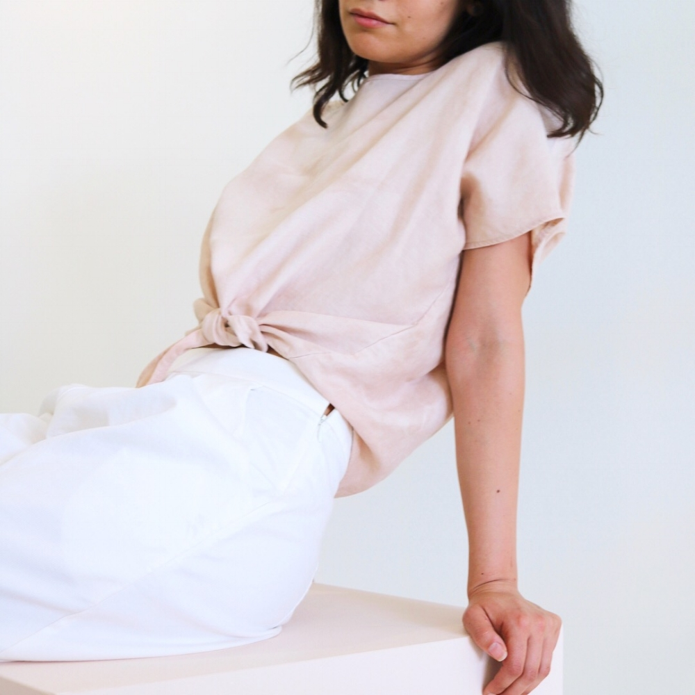 Natalie Busby X HONOR | OF : Linen Tie T-Shirt