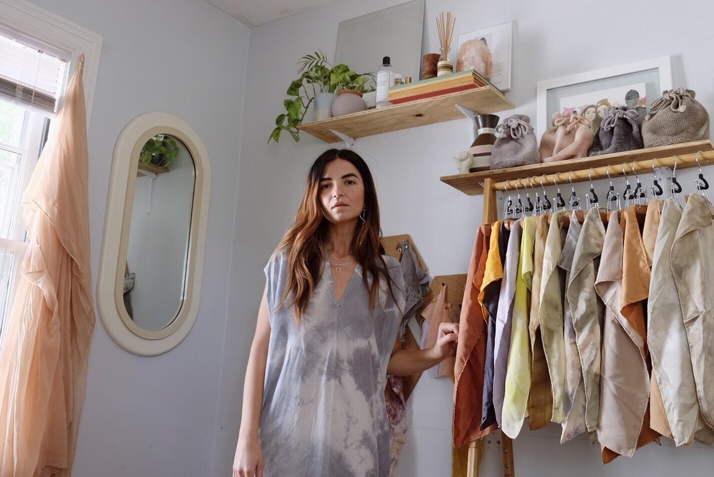 Owner + Designer  Jessica Robertson  in her home studio.