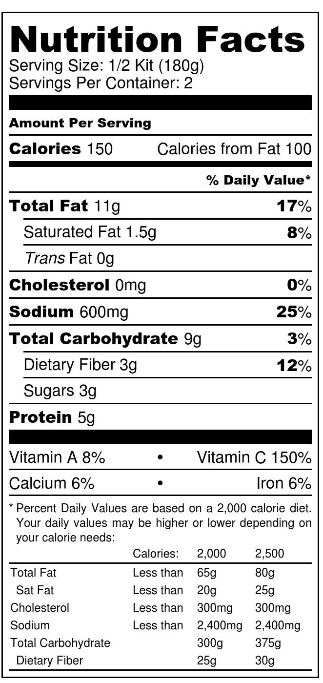 BROCCOLI FRIED CAULIFLOWER RICE KIT - Nutrition Label.jpg