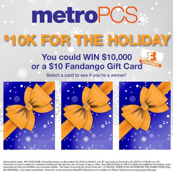 MetroPCS $10K Holiday Giveaway