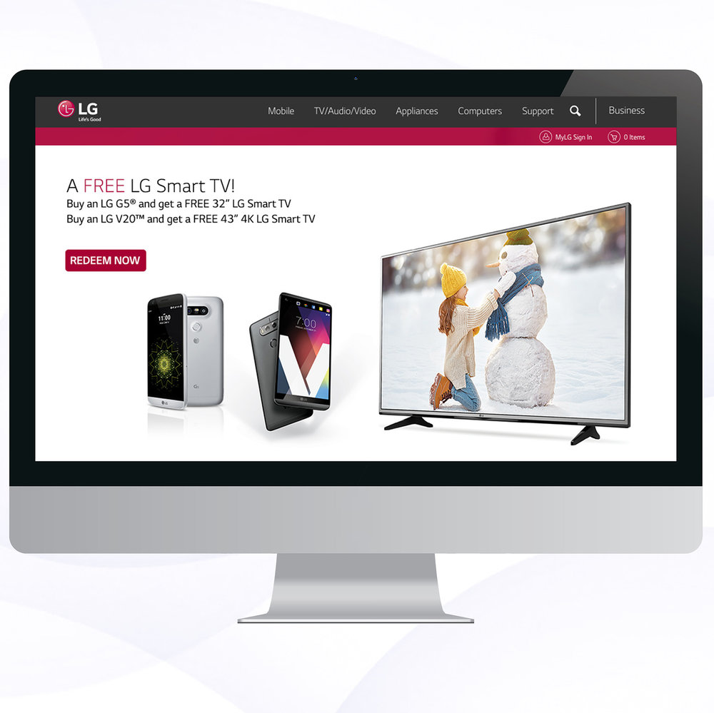 LG Sprint Promotion Website