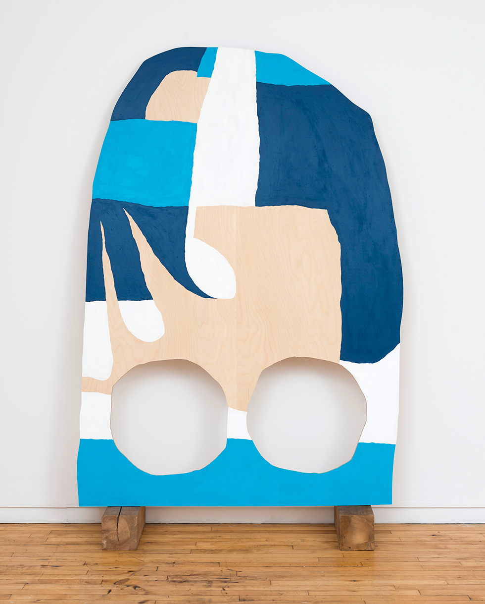 2016 Ceremony (case study in Baltic birch) acrylic on wood, 88 in x 55 in