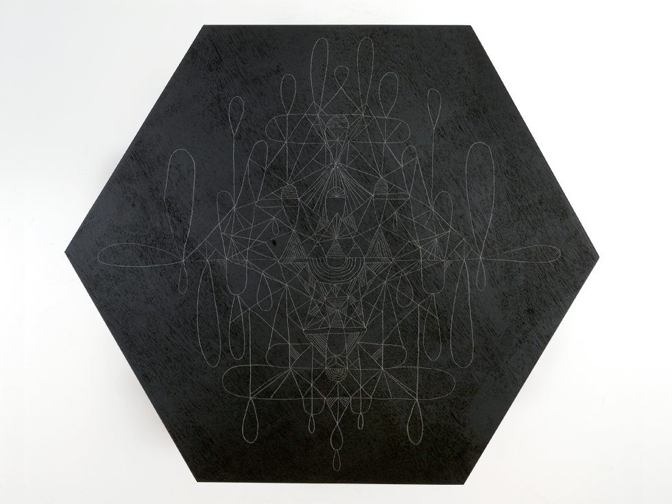 2009 You Know, A lot of People are Afraid of the Unknown graphite and acrylic on panel, 43 in x 47 in