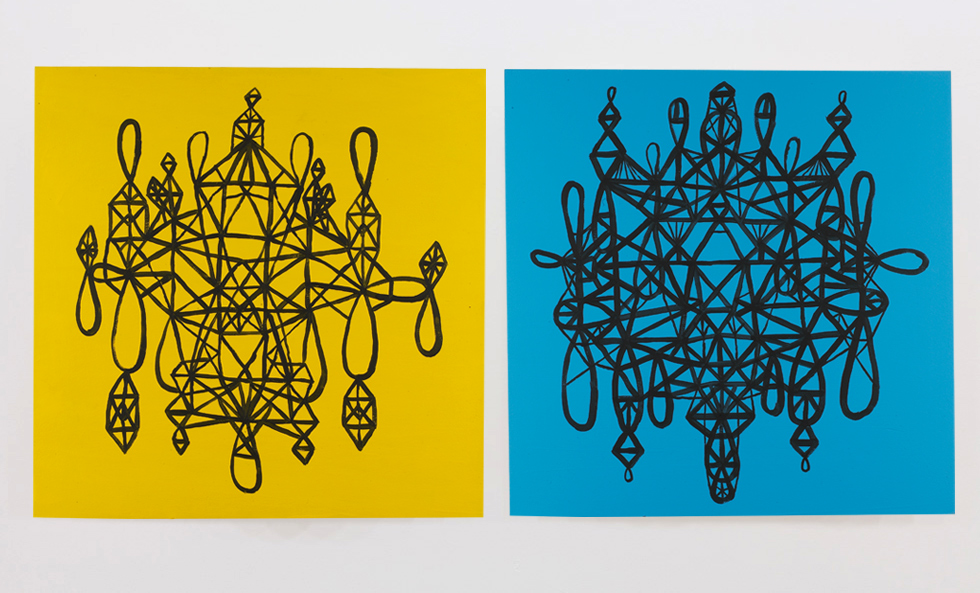 2009 Spacetime Thick #1, acrylic on wood panel, 24 in x 24 in Spacetime Thick #2, acrylic on wood panel, 24 in x 24 in