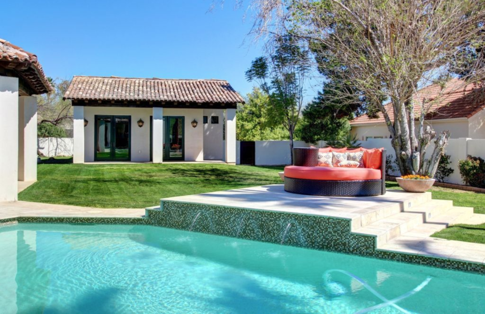 We'll have plenty of time each day to lounge or exercise on the lawn, take a swim, and relax in the jacuzzi. -