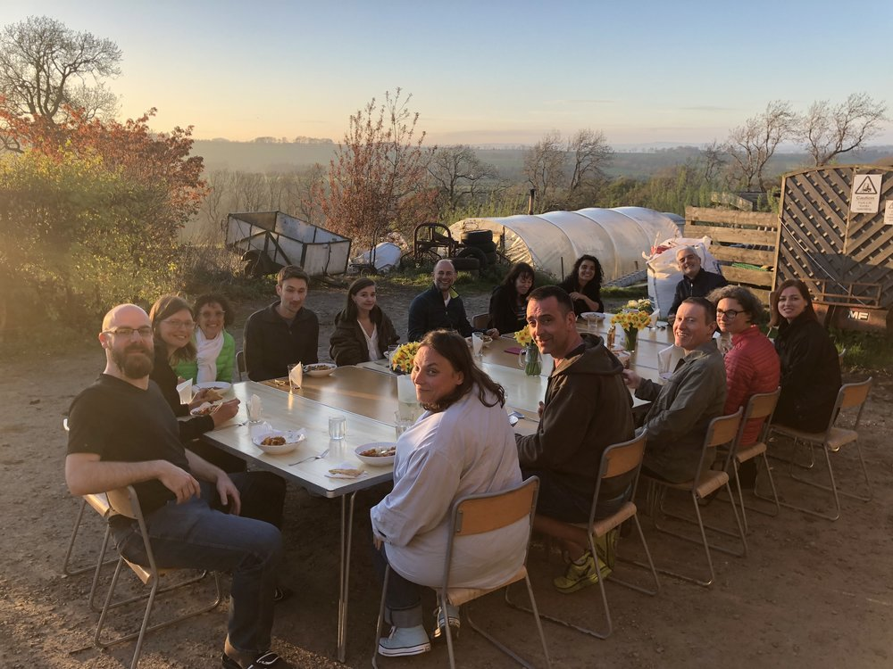 Al fresco dining, 'The Dive' Retreat, May 2018
