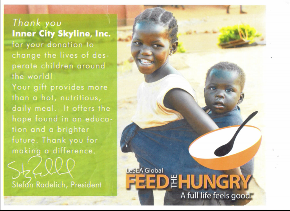 Giving back to the community and Feed The Hungry Organization