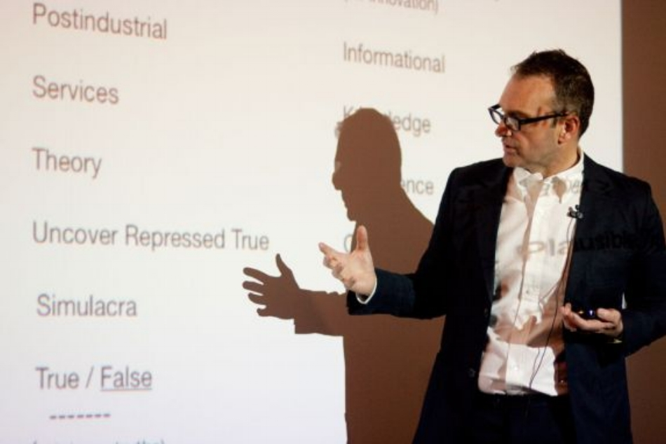 "Figure 1:  Michael Speaks, ""Design Thinking"" Lecture, Berlage Institute, 2009."