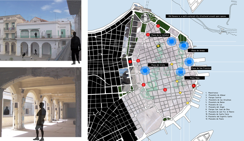 Plaza Vieja Public Space Study (Left) + Old Havana Public Space Study (Right)