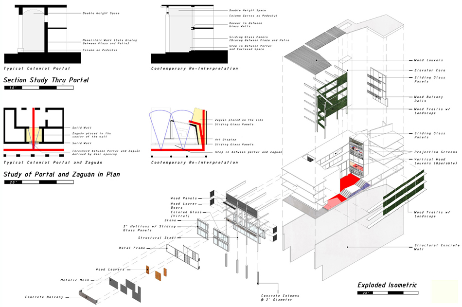 Exploded Axonometric + Plan Details