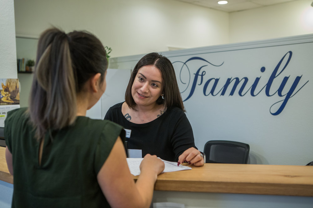 """I Could Tell There Was More"" Client Connection Starts at the Front Door   ""A few months ago, a mom came in with her two-year old"", recalled Magali. ""She had just moved to Napa County and came to us not knowing what sort of help she needed. I gave her diapers for her son and a gift card to buy some toiletries.  But I could tell there was more that this mom needed. The more we talked, the more she told me about herself."