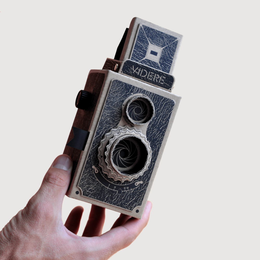 The Pop-up Pinhole Company's  first camera was created in 2013,using medium format film.Morrama were tasked with developing Videre to take 35mm film and to improve the user experience.