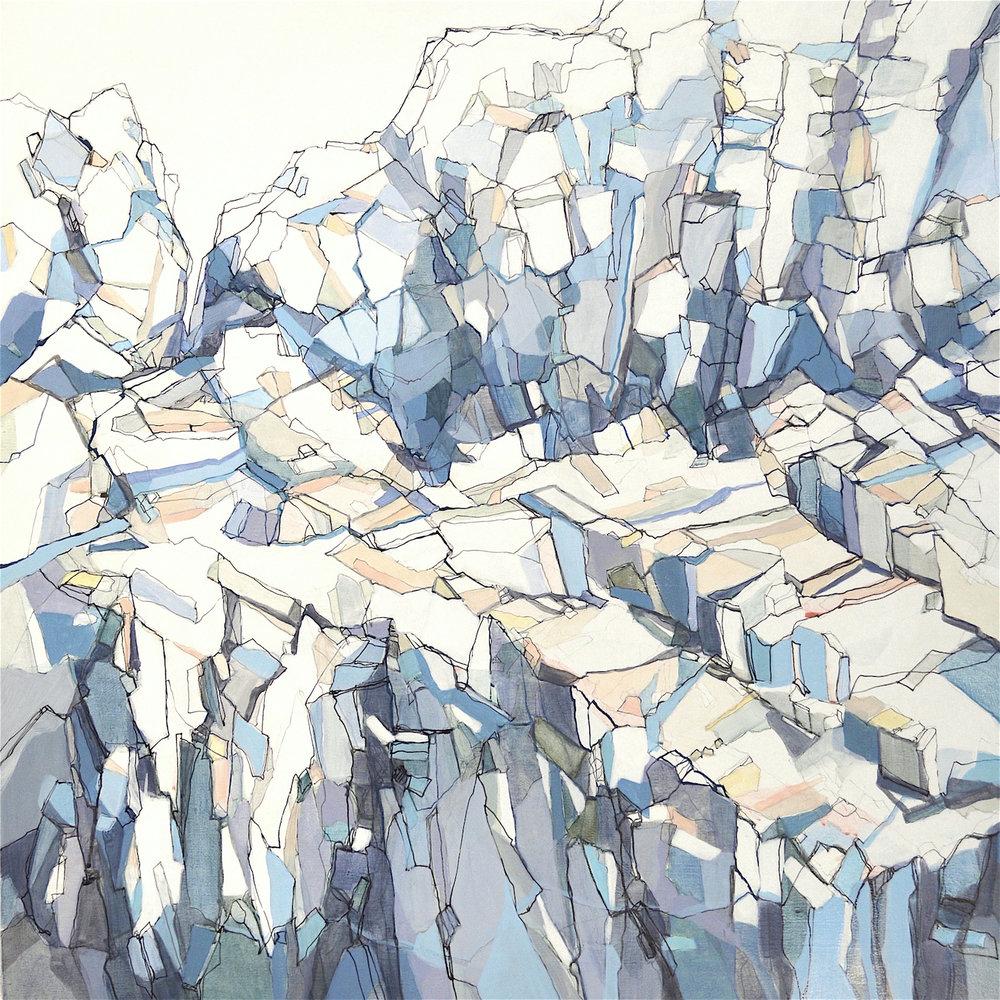 Hidden Passage, 30x30, acrylic on panel, $2750   + inquire
