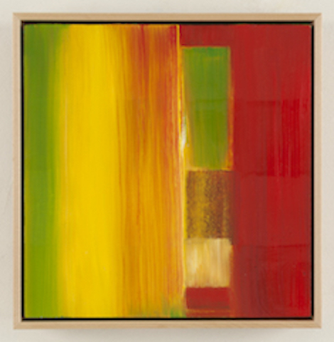 Green Yellow Red, 12x12, oil on panel,  SOLD   + inquire