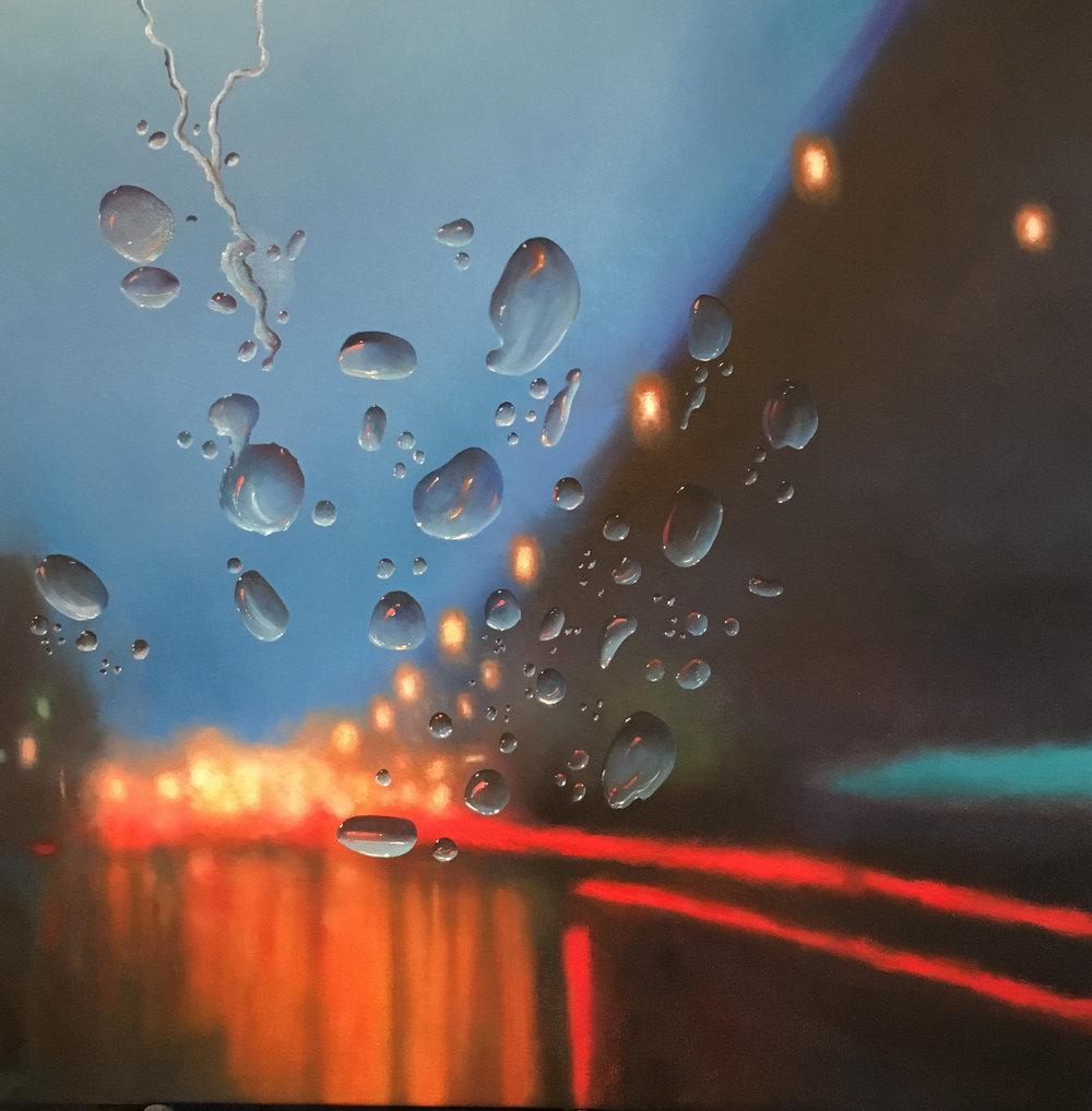 Evening Rain, 30x30, oil on canvas, $4,800  + inquire