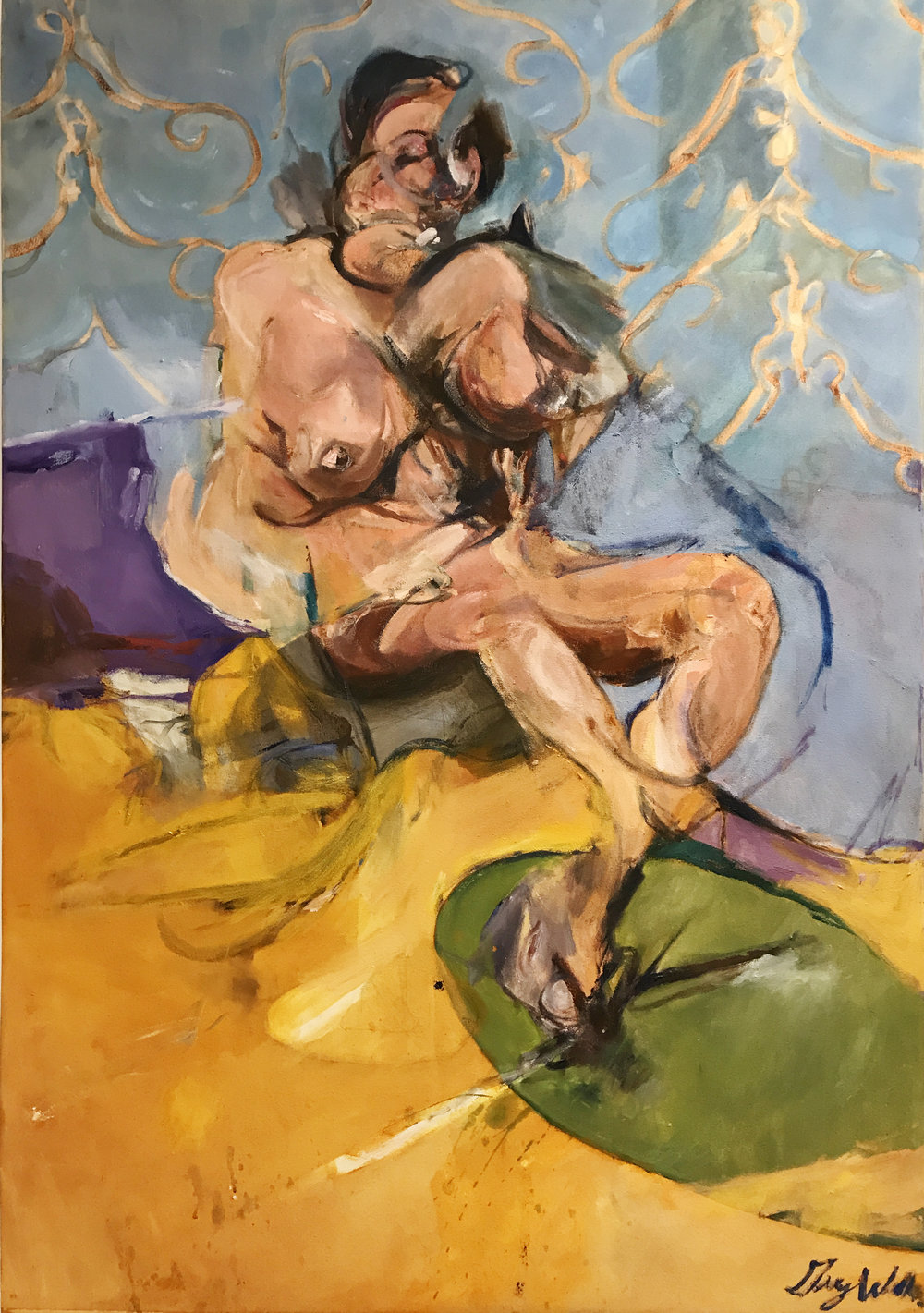 Woman Seated on Bed, 38x54, oil on canvas, $3900  + inquire