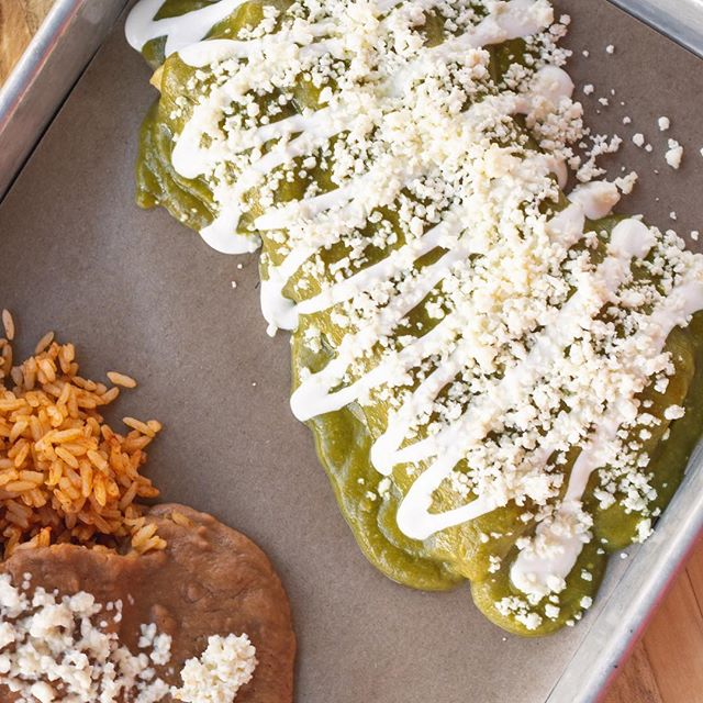 Enchiladas for lunch is always a great idea