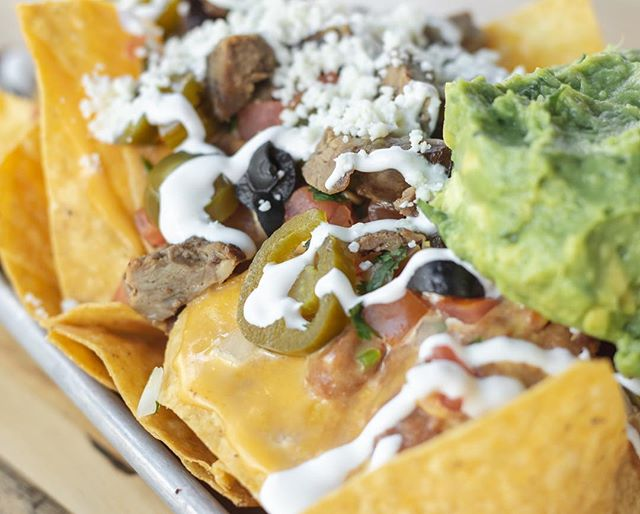 Nachos are for football 🏈 come join us at the NDSU pep rally tonight at the @boxgardentx!