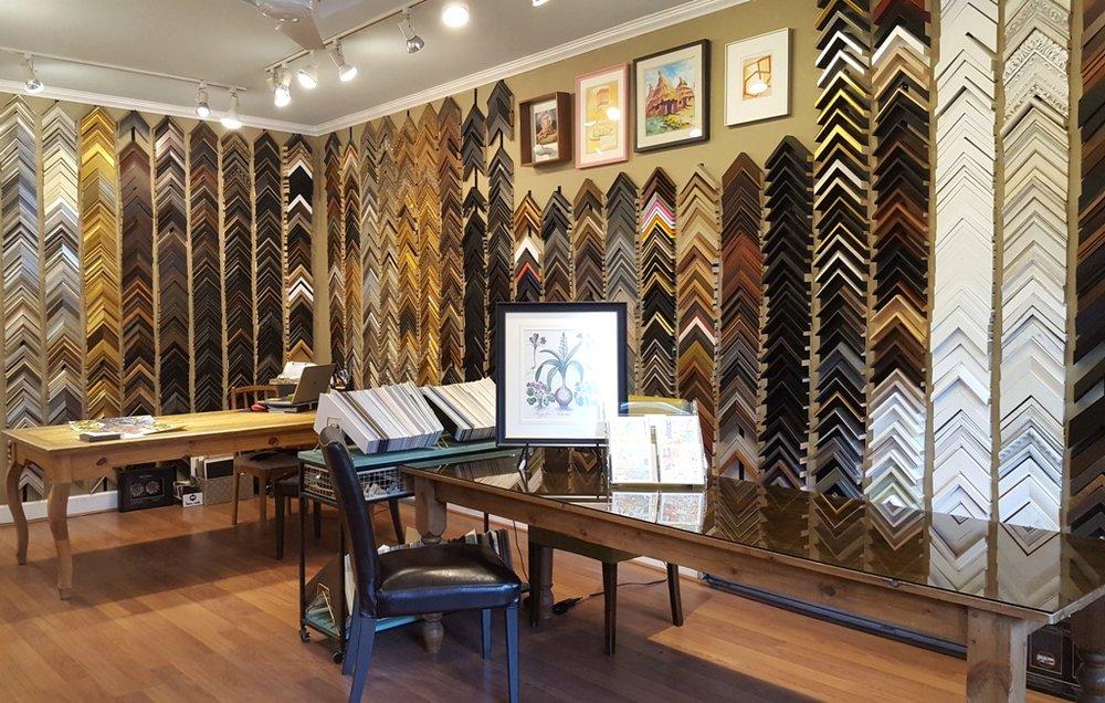 Baas Framing Studio has a vast selection of frame samples onsite