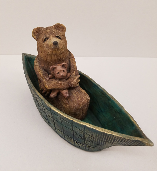 """Small Journeys / Bear"", Ceramic Sculpture by Sandi Bransford"