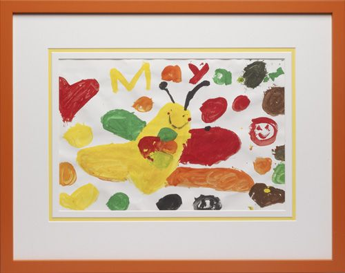 Save Those Special Paintings That Make You Smile! - Sure it's a finger-painting- but it reminds you of your child's pride when they brought it home from school, or their joy in making it. Let us help you put it in a frame and preserve that joyful memory!