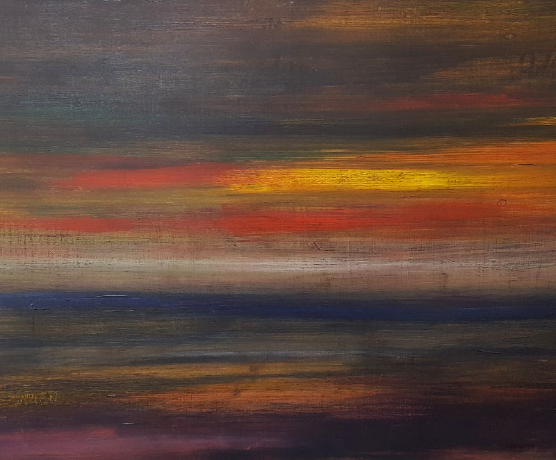 """Last Light"" 20"" x 23"" Arylic on Panel by Heather Wehman"