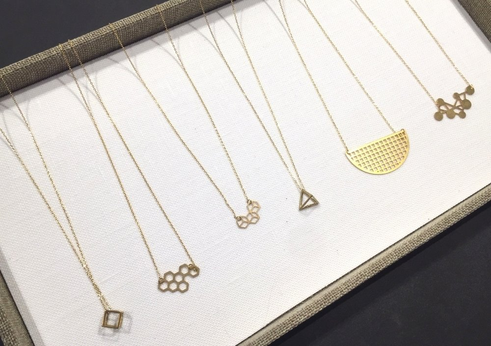 Cut Brass Necklaces