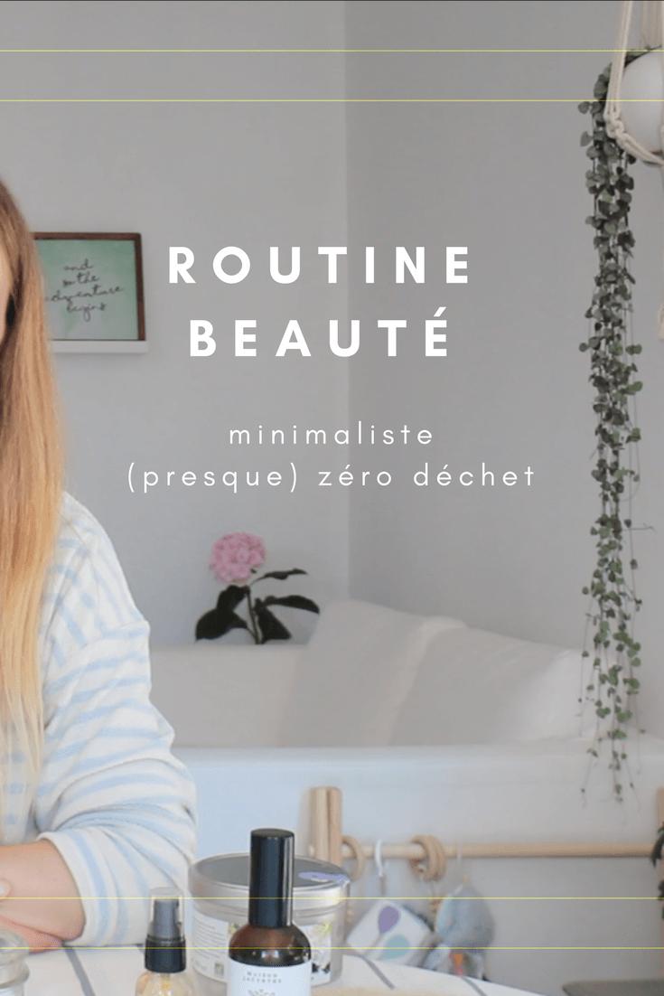routine beauté - minimaliste zéro déchet